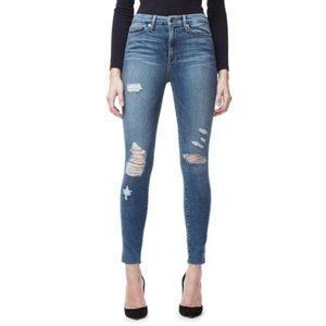 Good American Good Waist Crop Raw Skinny Jeans 24